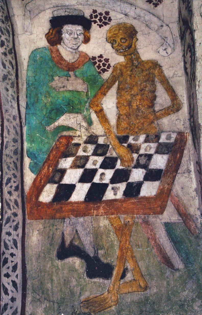 Death playing chess